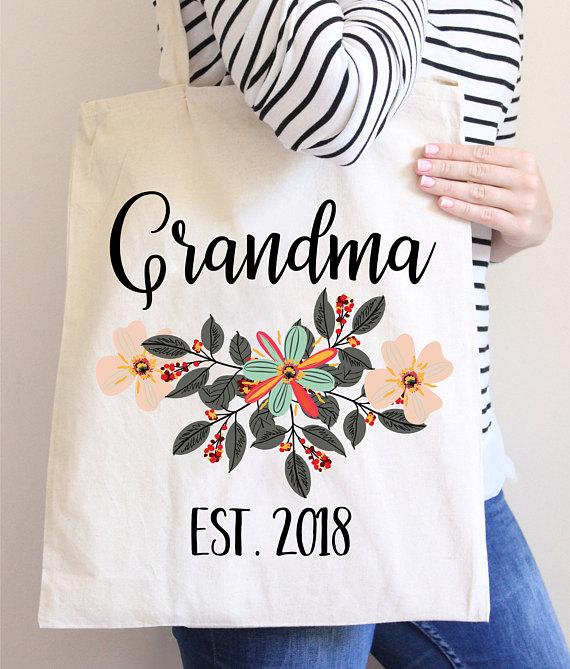 Grandma Tote Gift for Grandma Tote Bag for Grandma New Grandma Tote Bags Gift for New Grandma New Grandma Gift Grandma Tote Bag