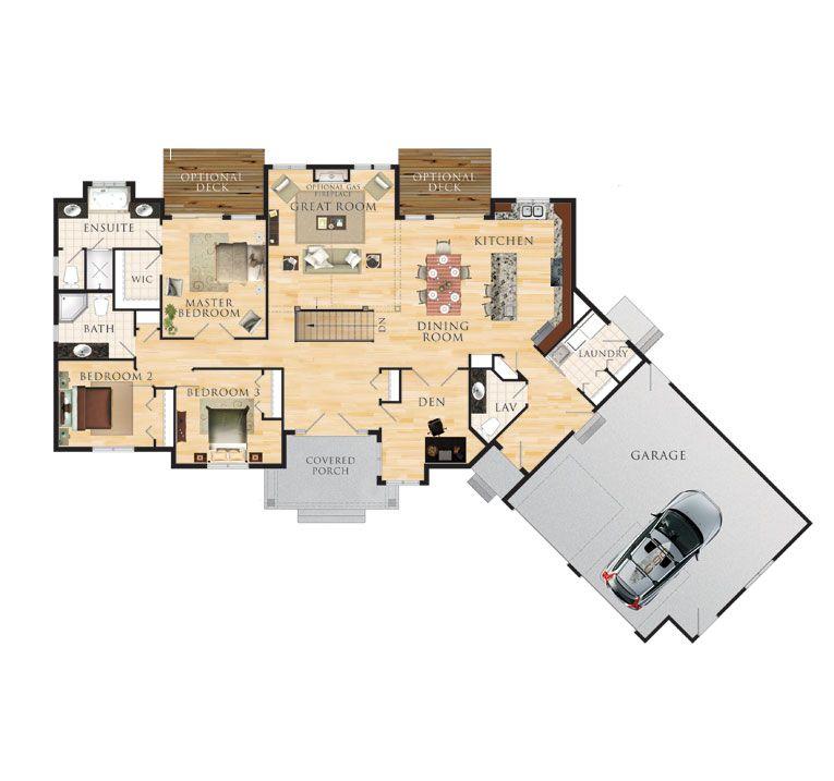 Eddystone Floor Plan 2 000 Square Feet Angle Garage