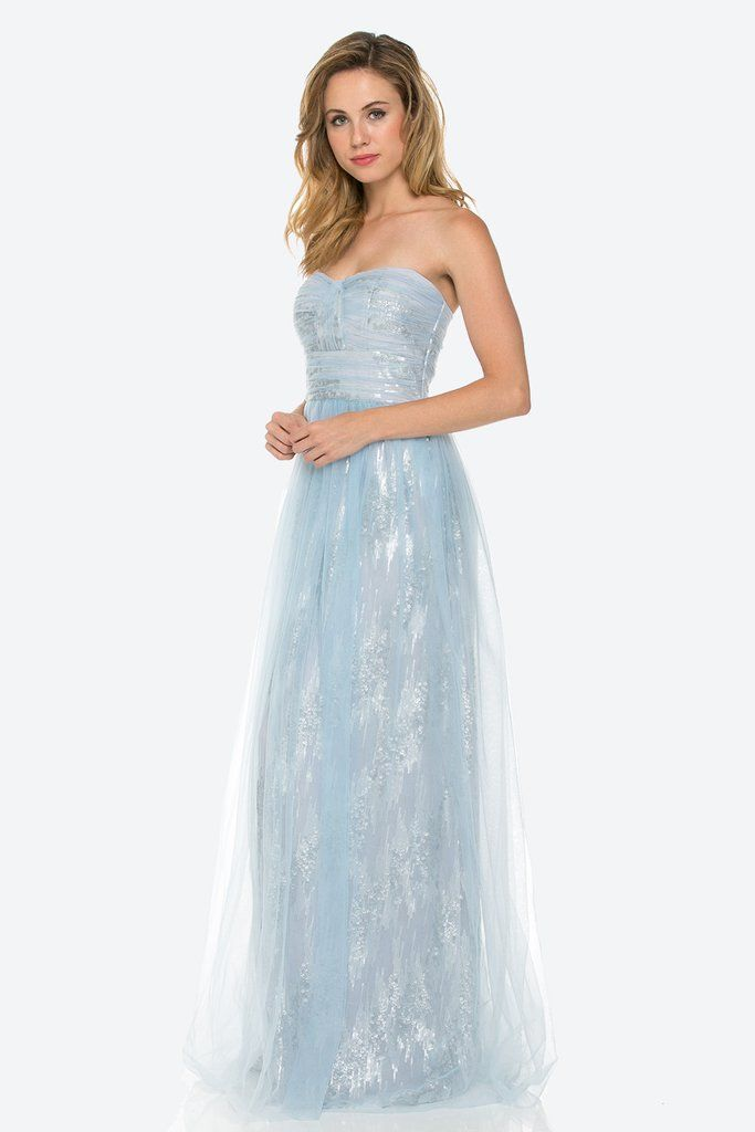 7b998f6da Winter wonderland themed wedding? Your girls will be looking like ice  queens in our Zoe Sequin Metallic Gown!