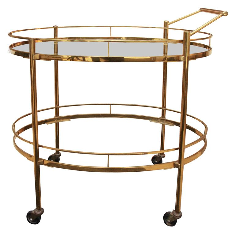 Br Art Deco Bar Cart