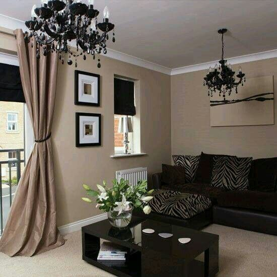Black And Taupe Living Room Neutral Living Room Brown Living Room Living Room Colors