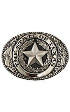 M&F Western Products Silver State of Texas Seal Buckle