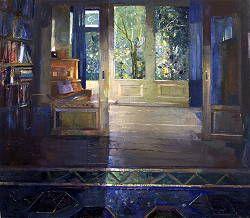 Stille kamer | schilderij van een interieur in olieverf van Simeon ...