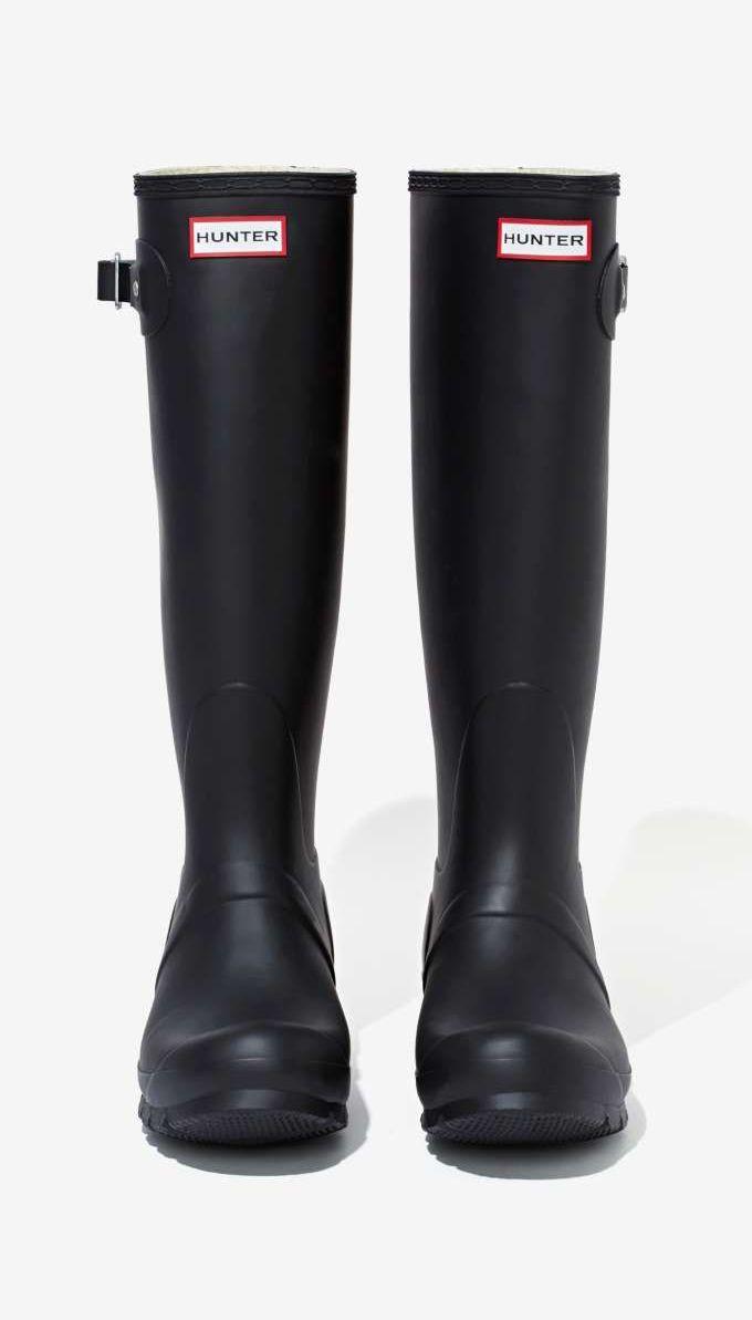 Cute Black Rain Boots