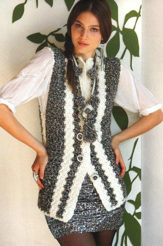 Chaleco Matizado de Crochet Patron - Patrones Crochet | chalecos ...