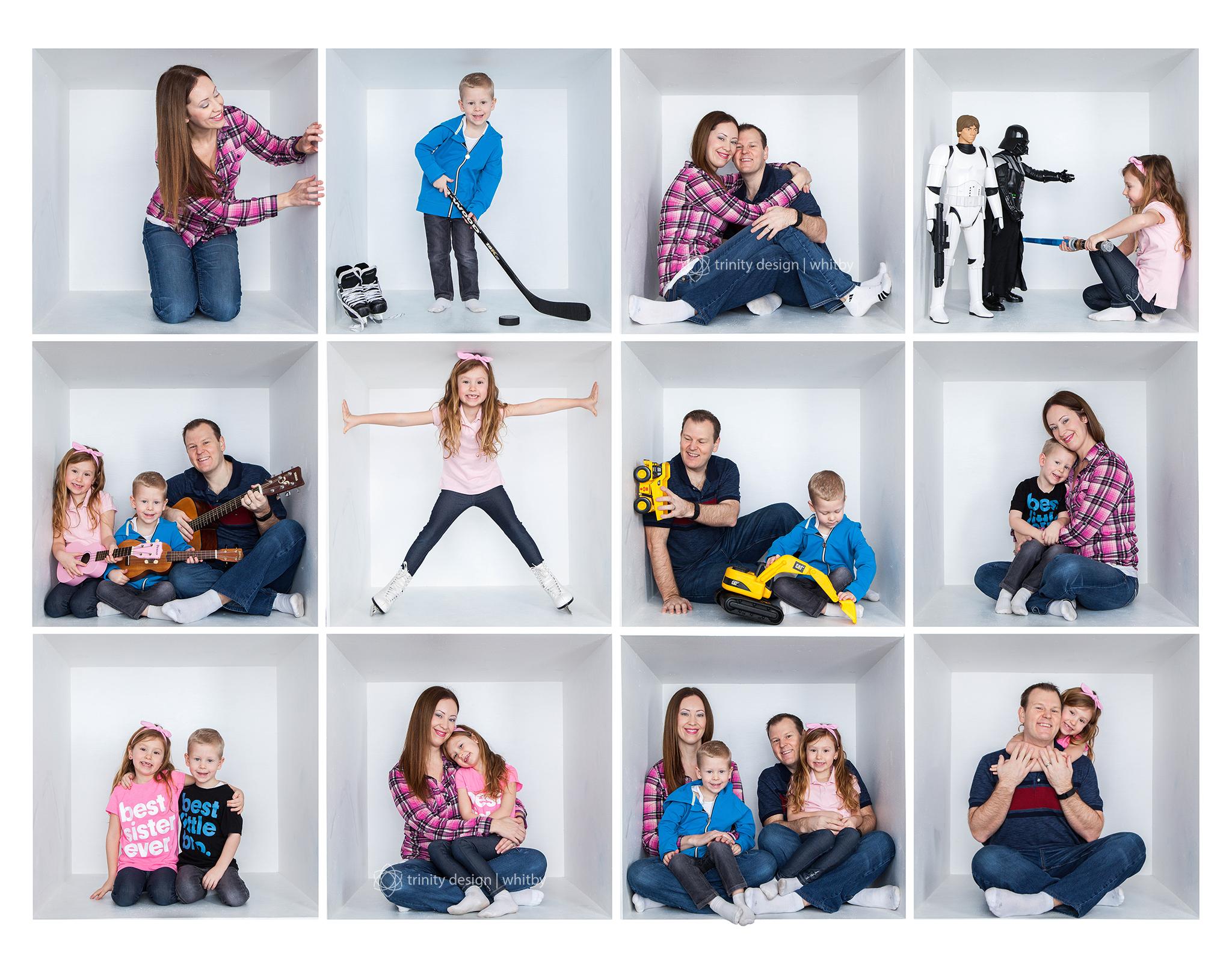 Family White Box Collage Copyright Trinity Design Photography