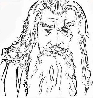 sketch of gandalf in the lord of the rings coloring page sketch of
