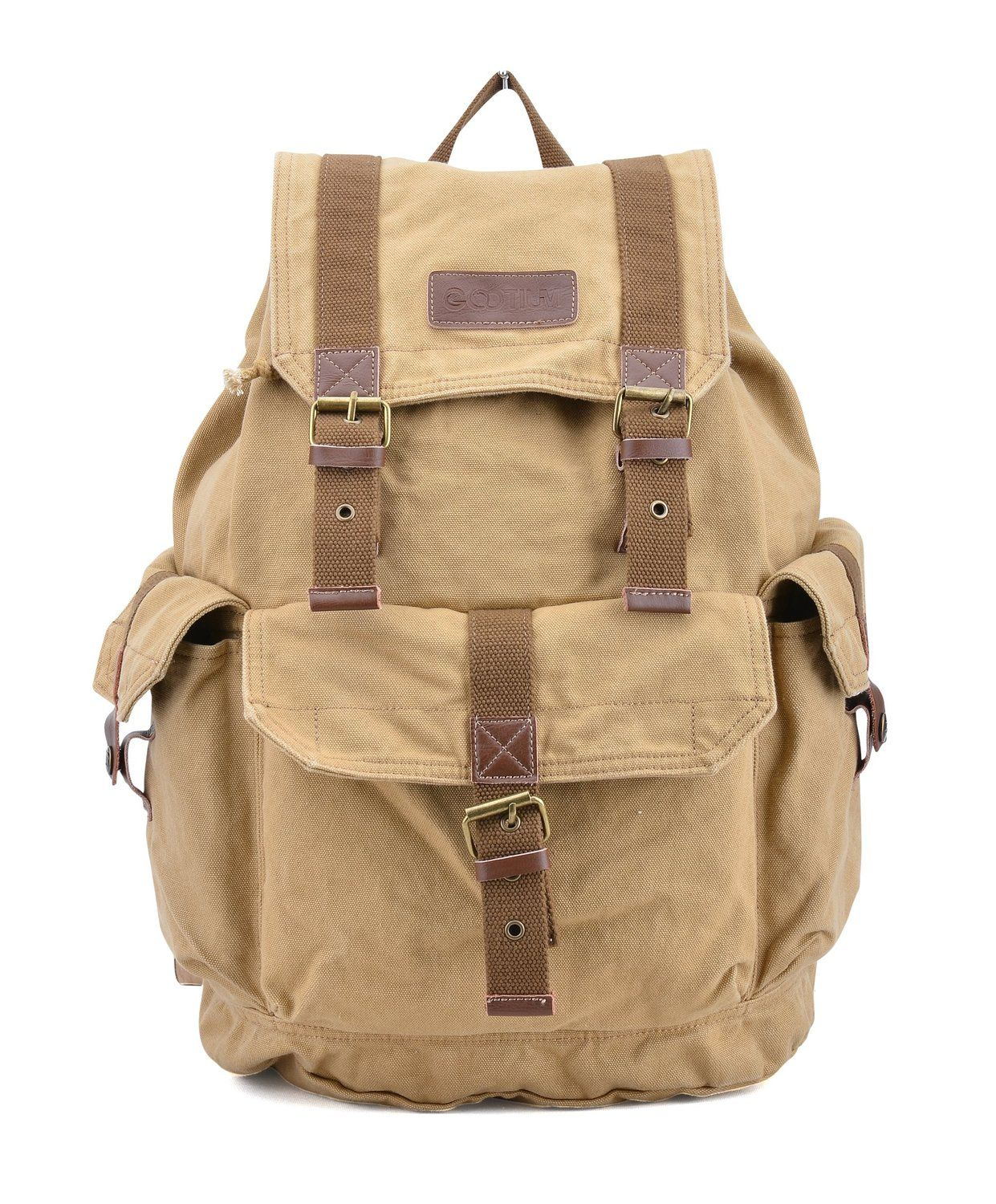 c1ded118c Gootium 21101 Specially High Density Thick Canvas Backpack Rucksack >>> You  can get more