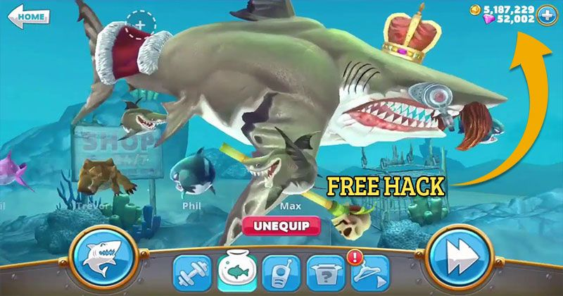 Hungry Shark World Hack 2019 Online Cheat For Unlimited