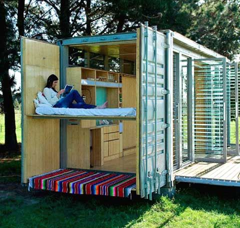 Port-a-Bach is a holiday home made from a shipping container. It's