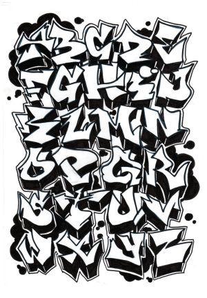 Como Hacer Un Tag Graffiti Abecedarios De Graffitis Letras