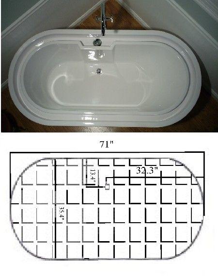 tesla free standing overflowing infinity bathtub