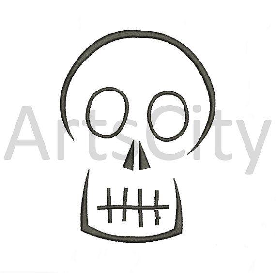 Halloween Simple Skull Embroidery Design INSTANT DOWNLOAD | applique ...