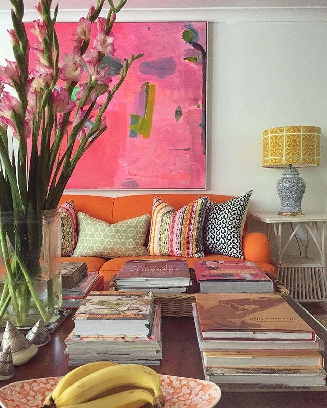 fabulous modern orange living room | You were a fabulous, bright and colourful year 2016. Thank ...