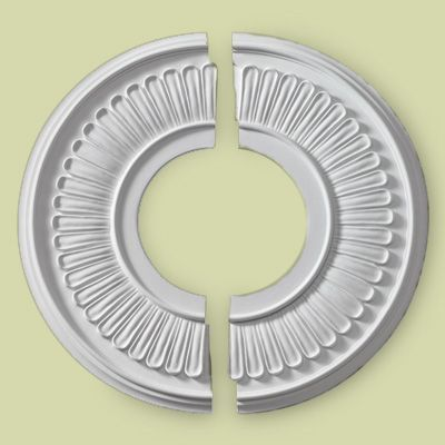 Install A Medallion Around A Ceiling Fan Without Taking It Down The Jefferson Two Piece Urethan Foam Medallion Fits Around The Fan Canopy Ceiling Fan Medallion Ceiling Medallions Ceiling Fan