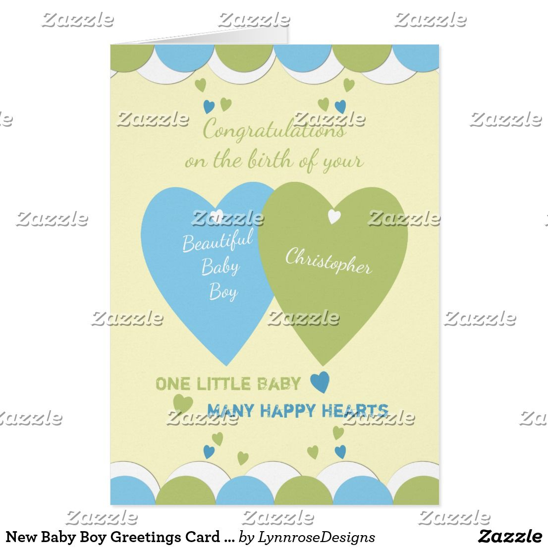Personalized Baby Boy Blue Card Zazzle New Baby Cards