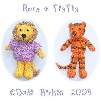 lion tiger cat PDF email toy knitting pattern | Pinterest | Knitting ...