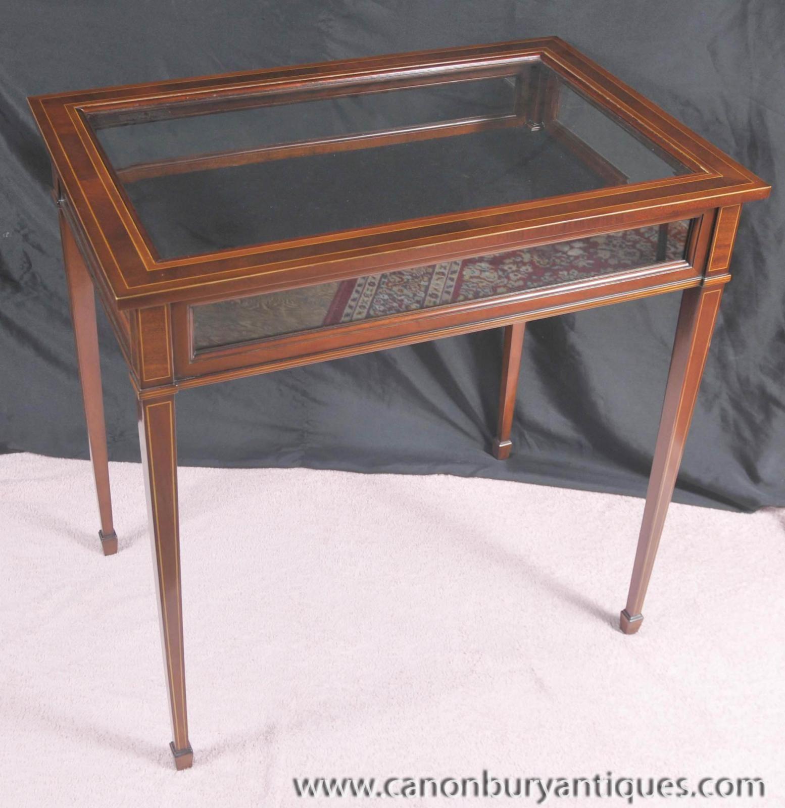 of Regency Glass Display Cabinet Jewellery Case Bijouterie