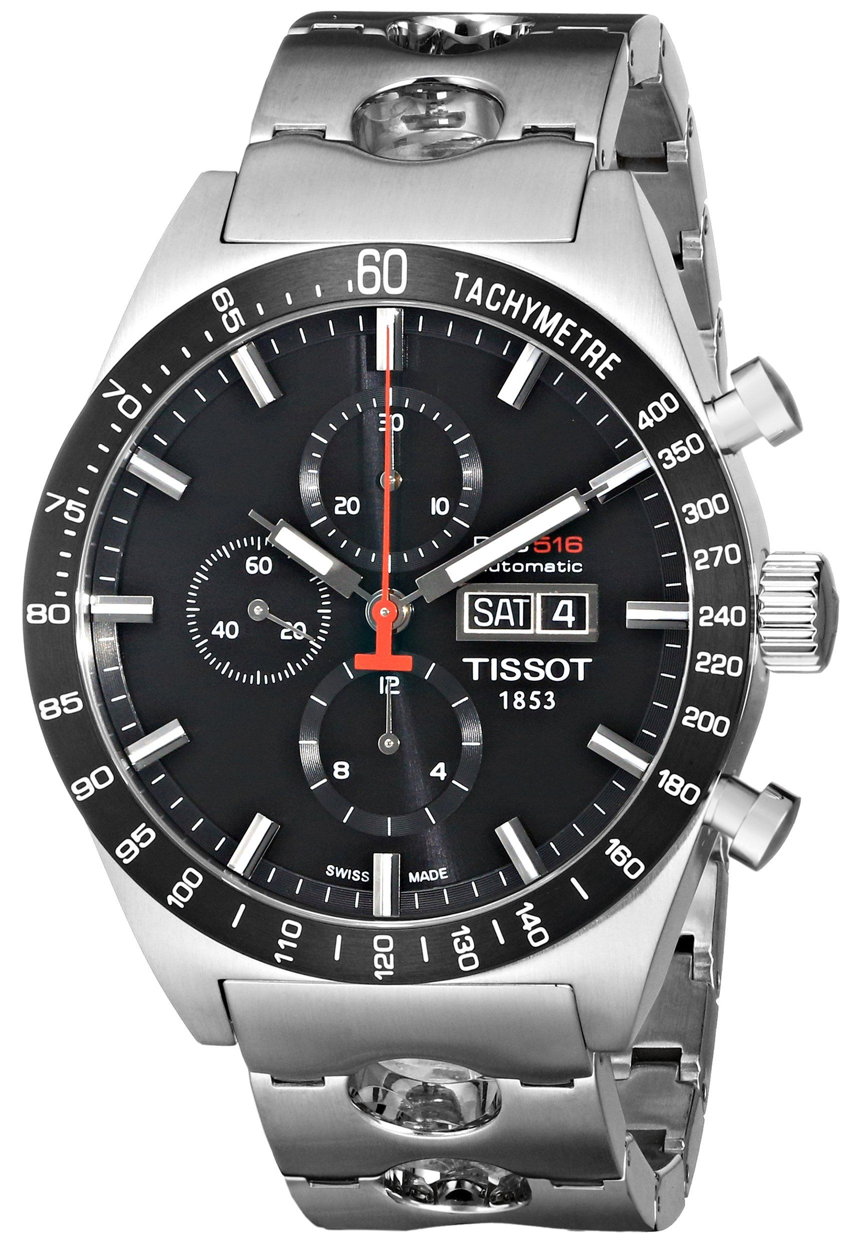 69dd405a5ba Amazon.com  Tissot Men s T0446142105100 T-Sport PRS516 Automatic Black Day  Date Dial Watch  Tissot  Watches