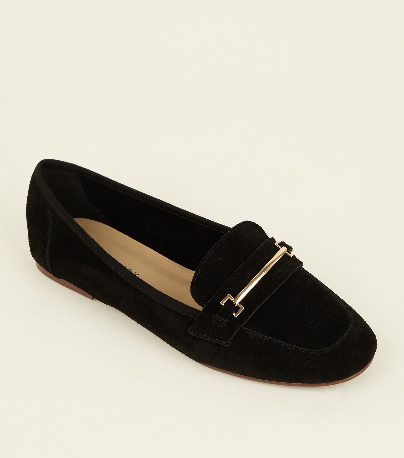 fbefda2b4a46e Black Suede Front Bar Loafers | Shoes and Bags | Loafers, Suede ...