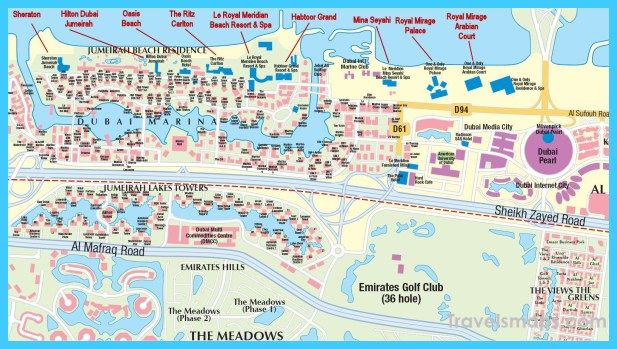 cool Map of Dubai | Travelsmaps | Dubai attractions, Dubai map ... Dubai Hotels Map on