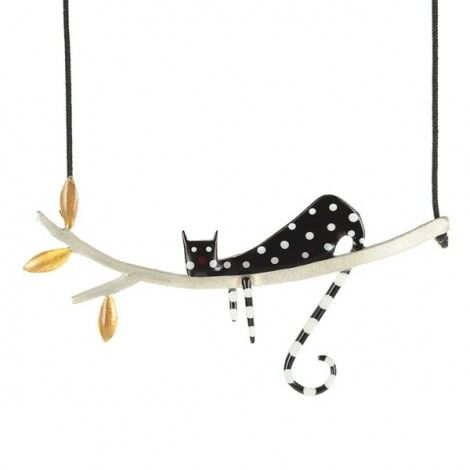 Collier kiss the frog studio cool cat argent cosas for Frog studio