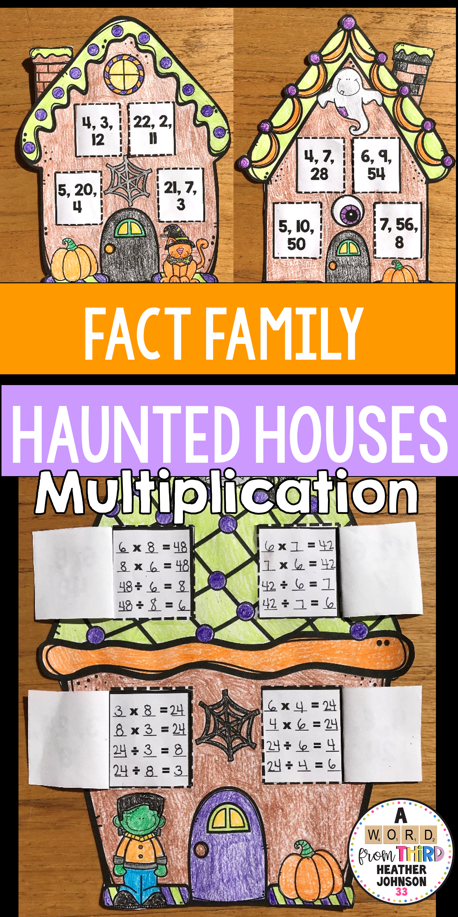 Halloween Haunted House Fact Families Multiplication And