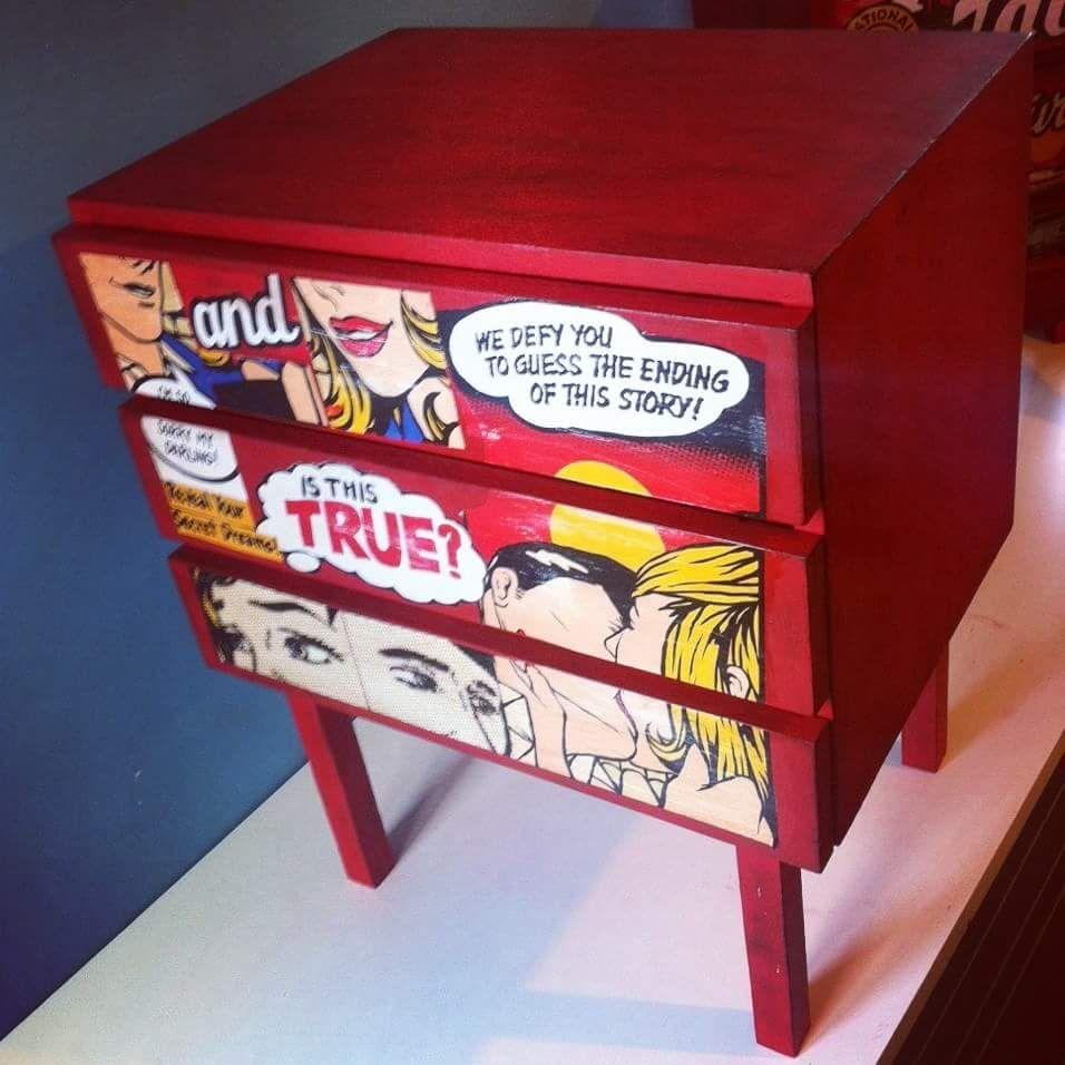 Pop art furniture makeover