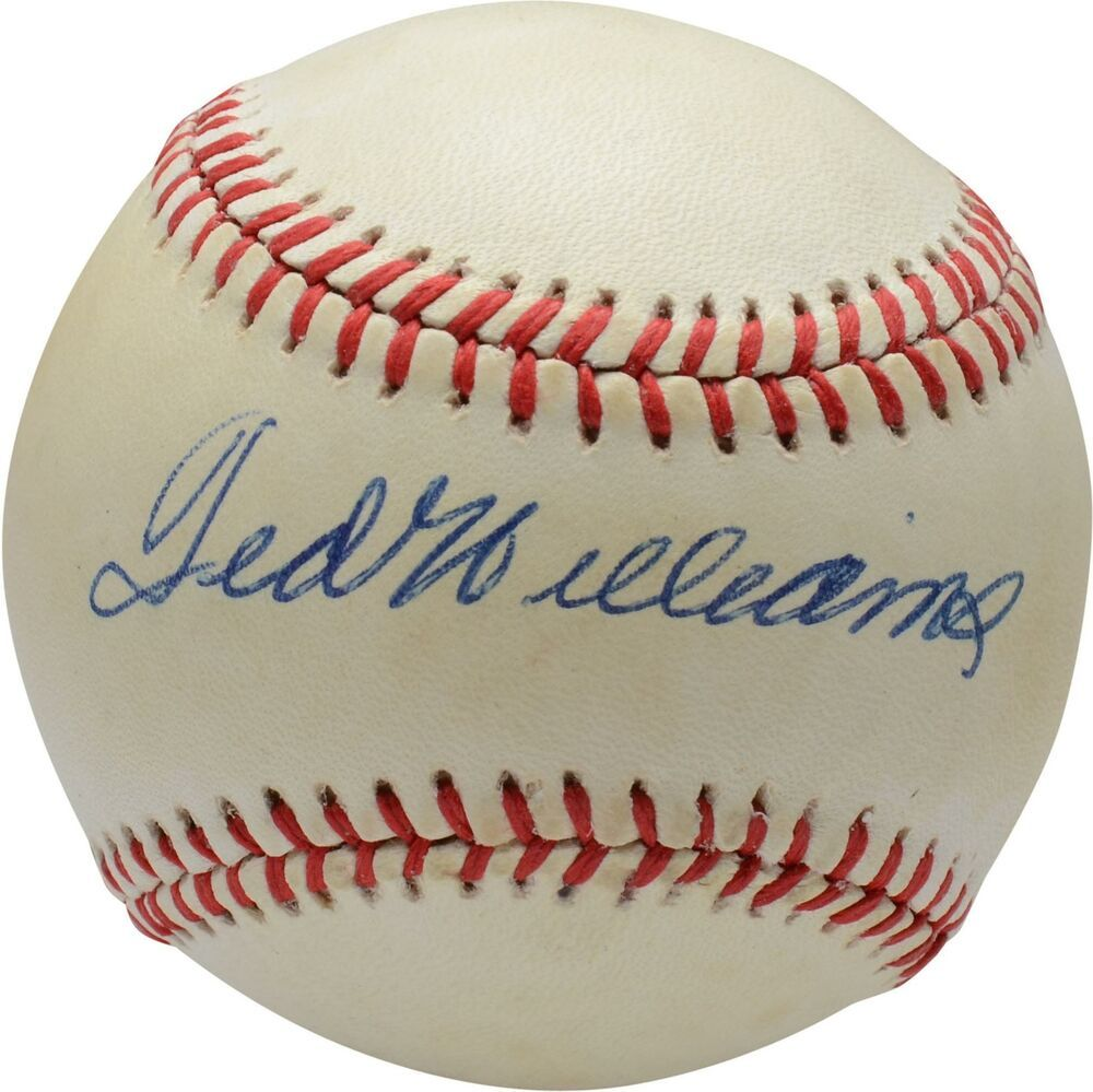 Ted Williams Boston Red Sox Autographed Vintage Toned Baseball Psa V04985 Sportsmemorabilia Autograph Baseball Ted Williams Boston Red Sox Autograph