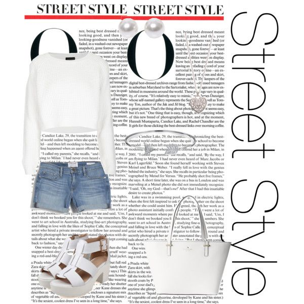 Street Style by austie on Polyvore featuring polyvore fashion style Topshop Frame Denim Kate Spade Bling Jewelry Nouv-Elle Accessorize