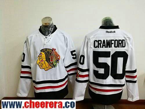 Men s Chicago Blackhawks  50 Corey Crawford White 2017 Winter Classic  Stitched NHL Reebok Hockey Jersey 1f01b4466