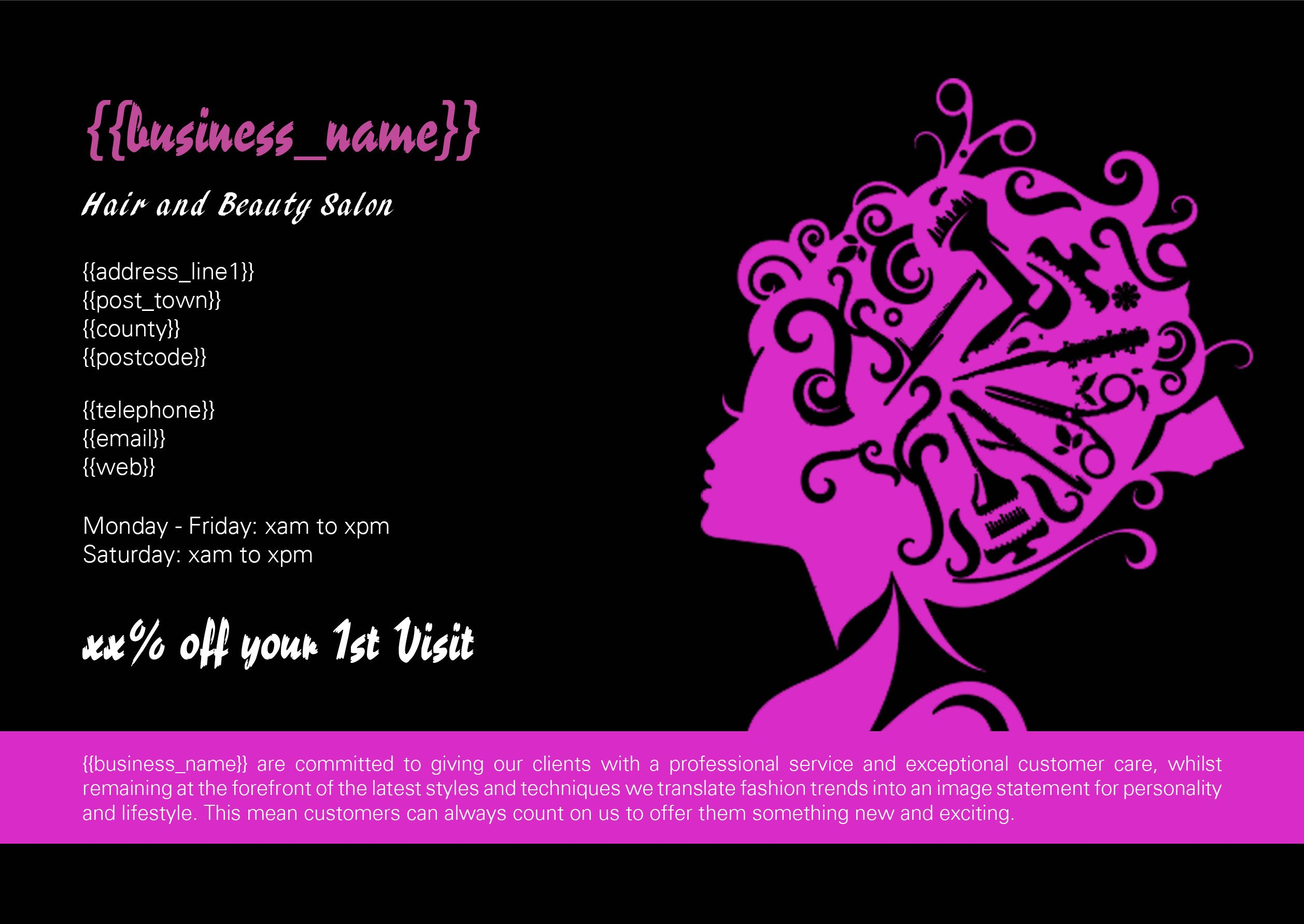 Hairdresser Flyer Front | Парикмахеры | Pinterest | Hairdressers and ...
