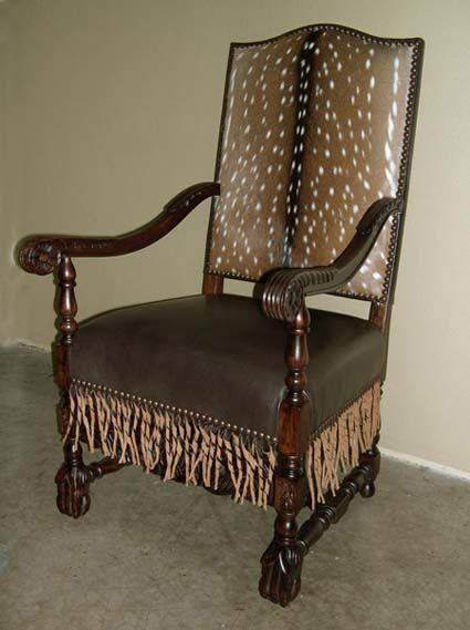 Axis Deer Western Chair Accent