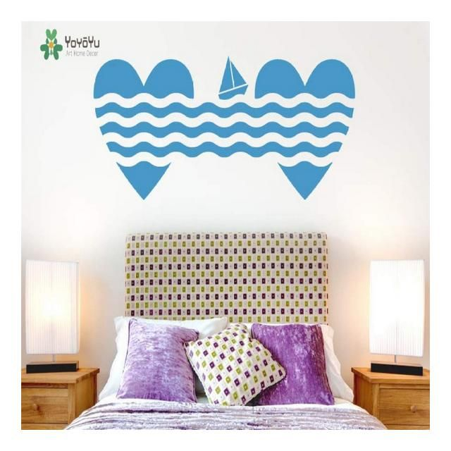 Photo of BailongXiao Wall sticker Heart Vinyl Sticker Model Sailboat Bedroom Sticker C …