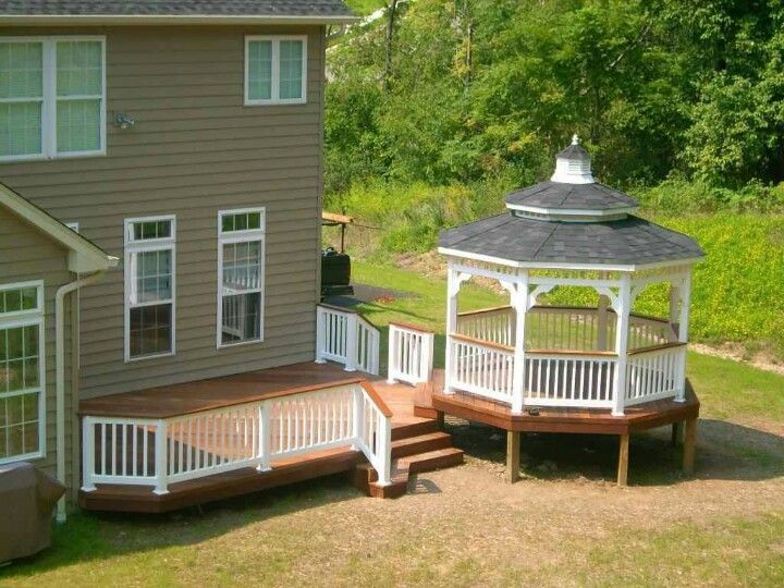 Deck with gazebo ENCLOSED BACKYARD STRUCTURES Pinterest Patio