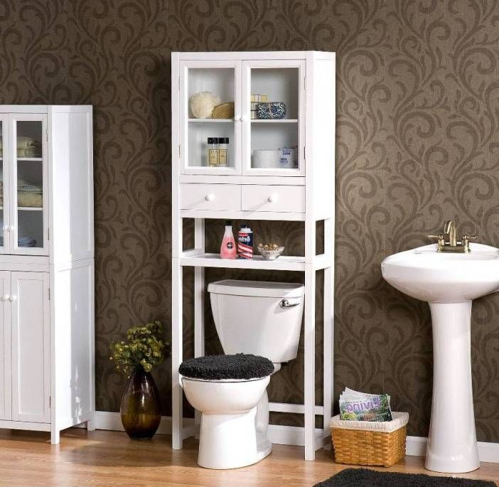 Bathroom Etagere over Toilet | Pinterest | Shaker style, Brown wall ...