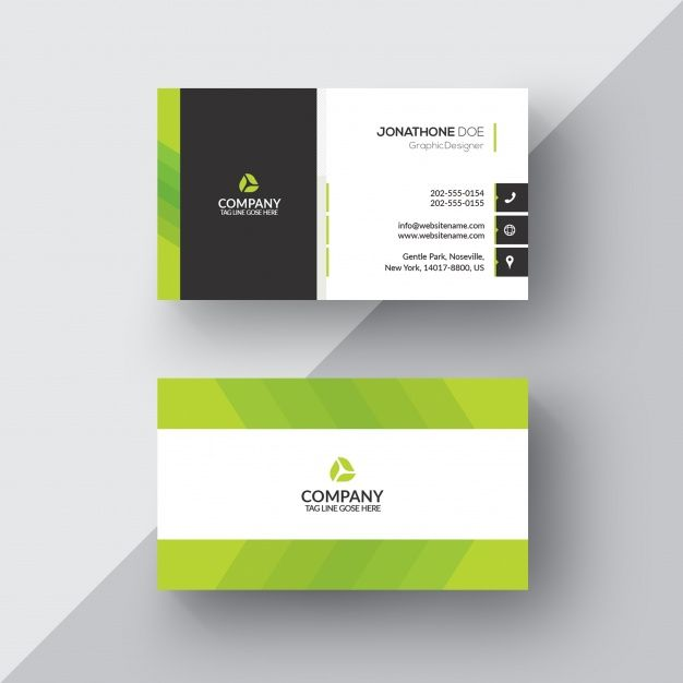 Download Green And White Business Card For Free Free Business Card Templates White Business Card Printing Business Cards