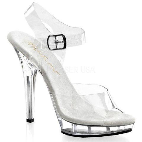 LIP Stiletto 108 Fabulicious Sexy Schuhes 5 Inch Stiletto LIP Heel Ankle Strap ... 1dbb42