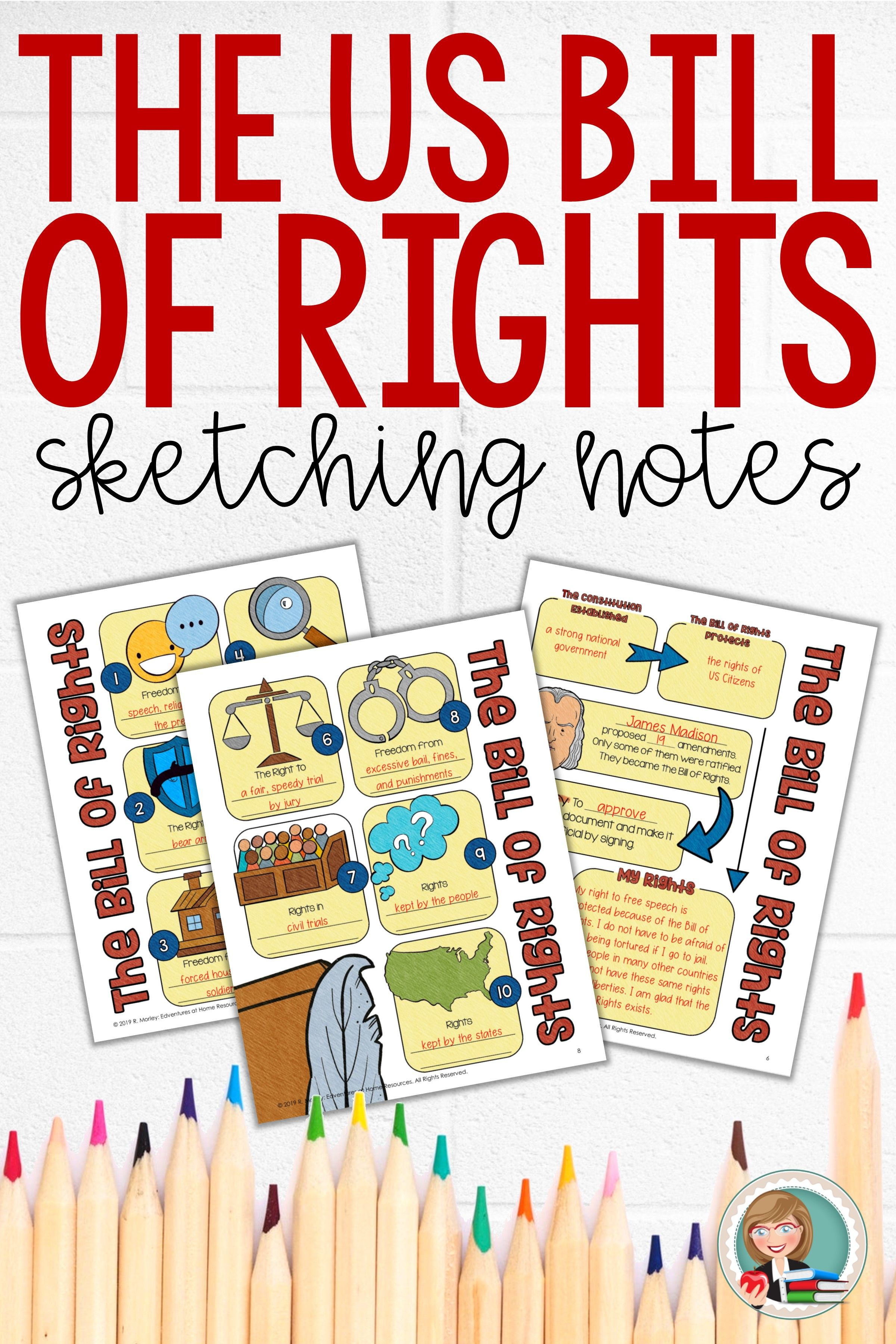 Bill Of Rights Activity Worksheet   Printable Worksheets and Activities for  Teachers [ 3600 x 2400 Pixel ]