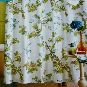 target home blue bird shower curtain