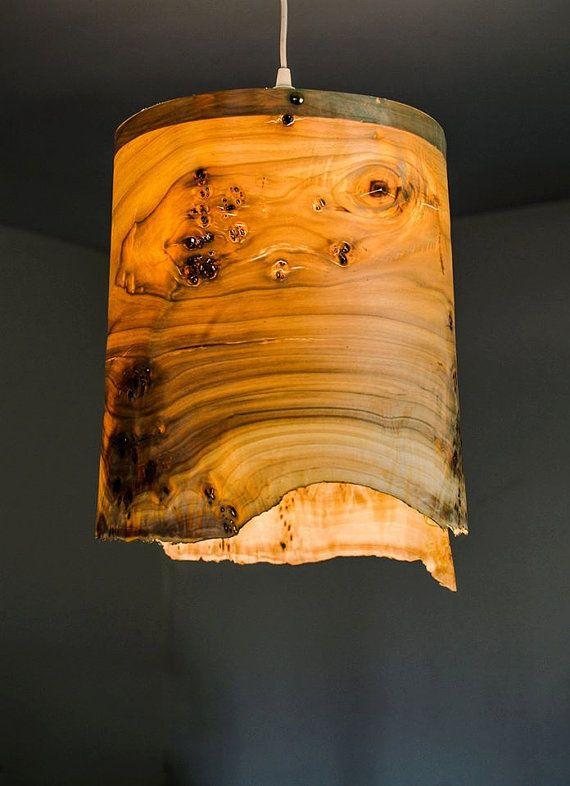 Poplar Veneer Lamp Shade Pendant Lamp Cozy Lamp Wood Lamp
