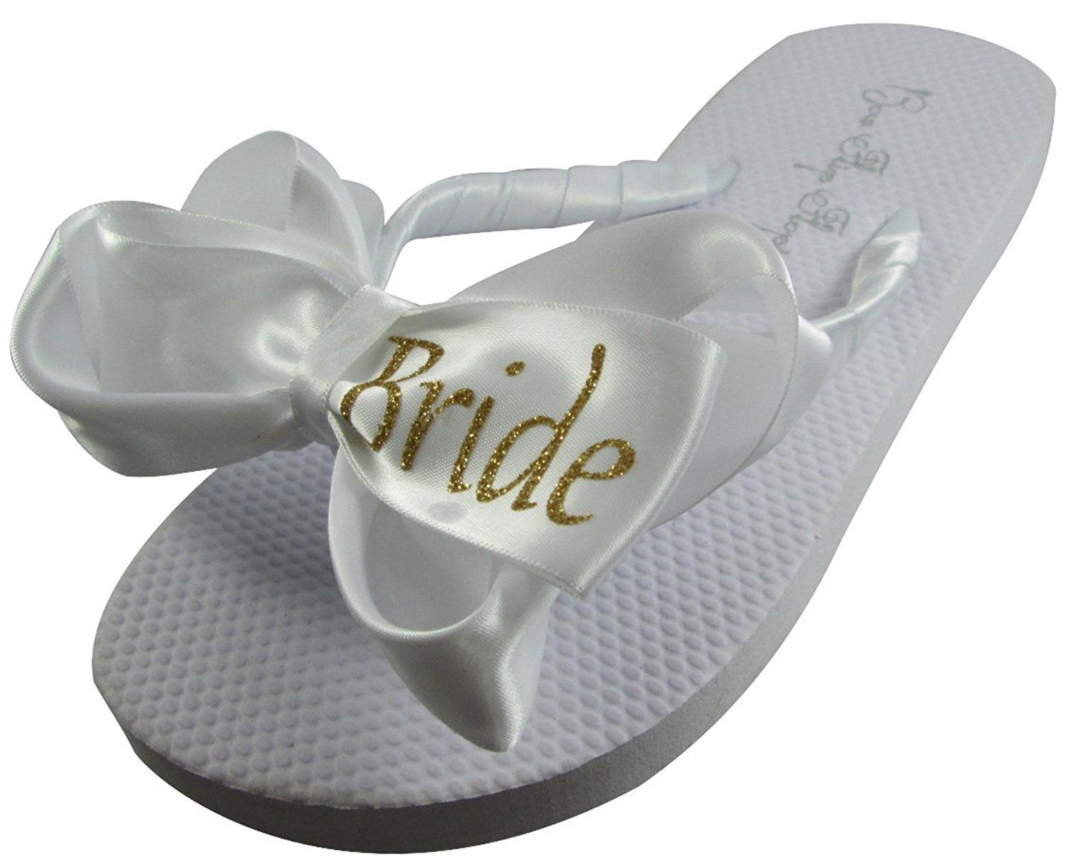 Bride Glitter Bling Bow Flip Flops For The Wedding 3 Colors All Sizes Visit The Image Link More Details