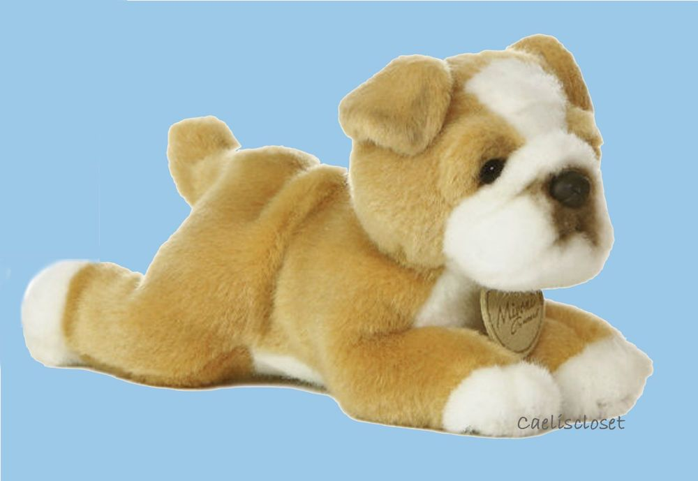 Miyoni Bulldog 8 Plush Dog Stuffed Animal Bull Dog By Aurora New