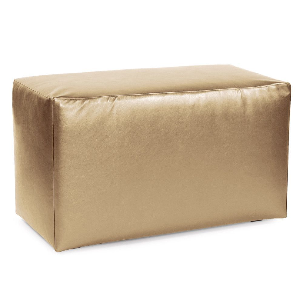 Shimmer Gold Universal Bench Cover Ottoman Slipcover
