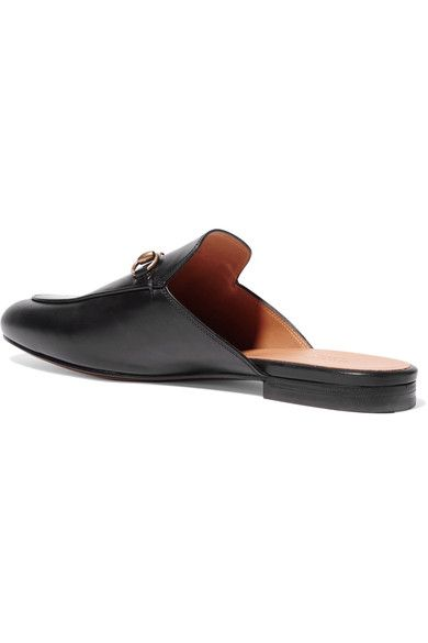 12a7d9766 Gucci - Princetown Horsebit-detailed Leather Slippers - Black ...