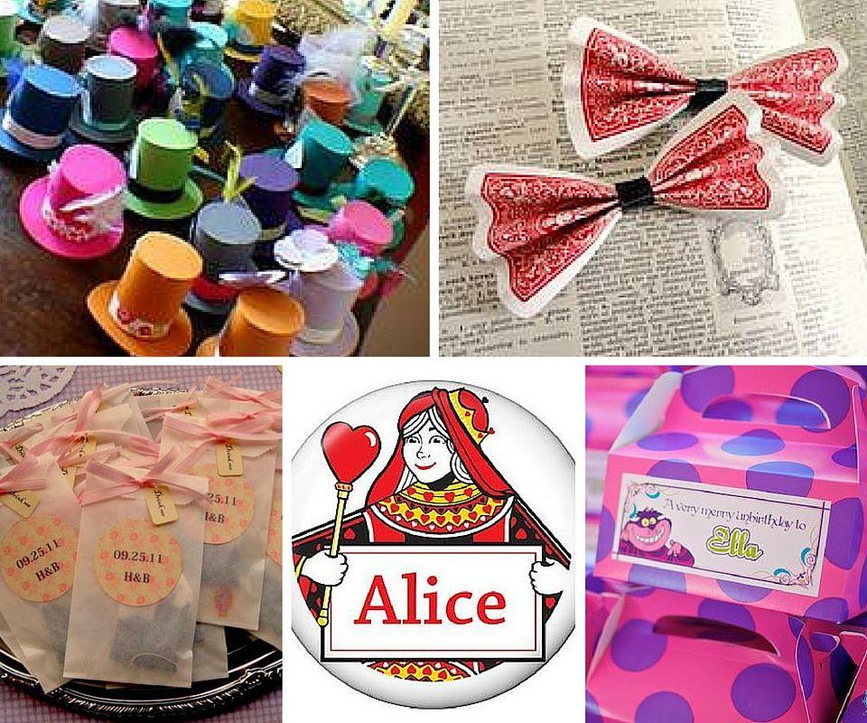 Alice in wonderland favors alice in wonderland birthday