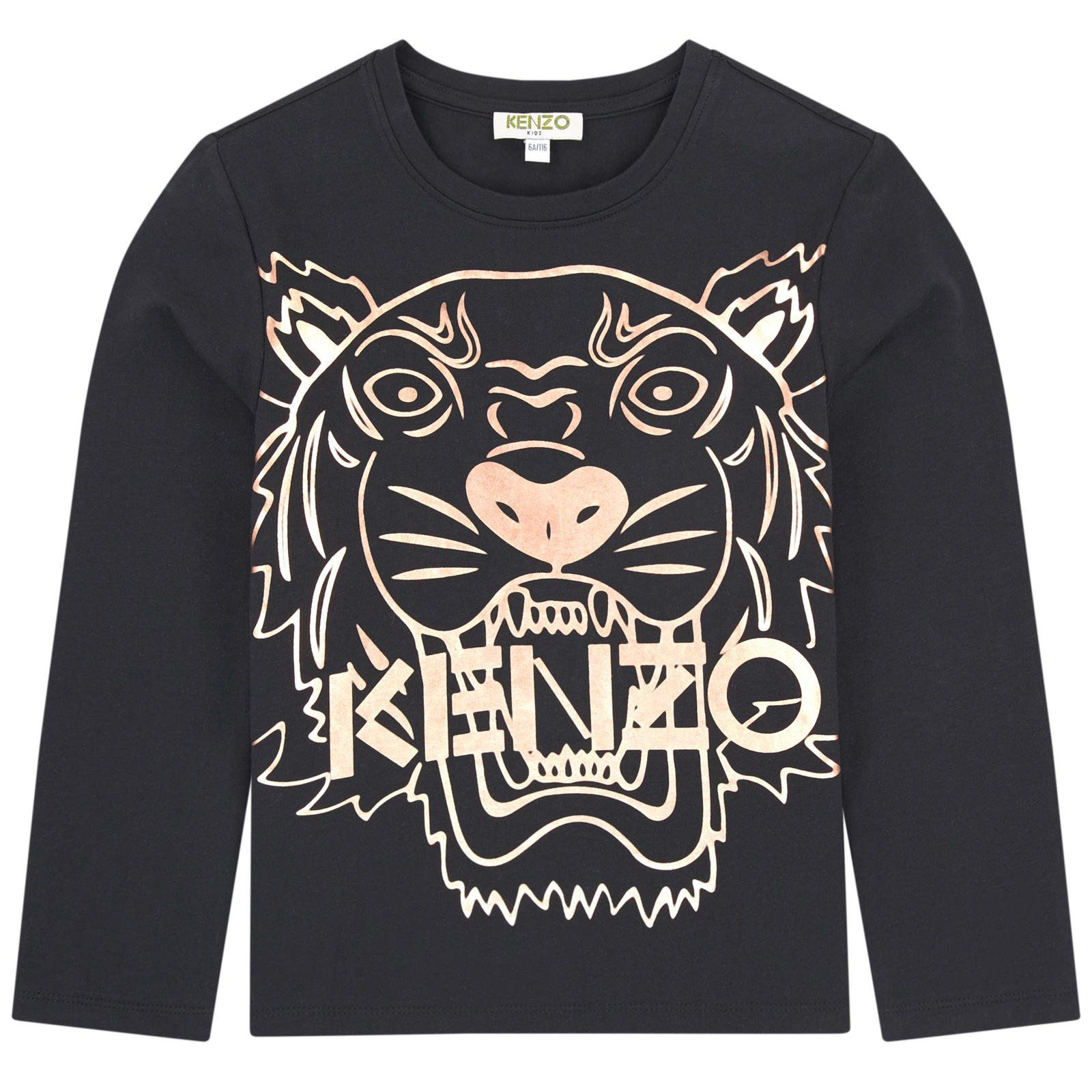 ca18c01b3397 Girls Black with Gold Tiger Logo Top   Products   Tiger logo, Gold ...