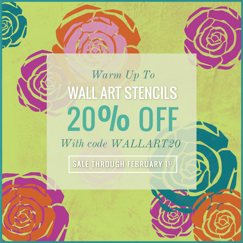 Warm up with some Wall Art Stencils! Create stencil art with single ...