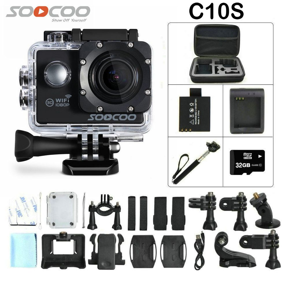 Click To Buy Soocoo C10s Sports Camera With Wifi Full Hd 1080p Action H3r Ultra 4k Bult In Remote Control Cam Cheap Tripod Quality Pen Directly From China Night Suppliers Lcd 170 Degree Wide Lens
