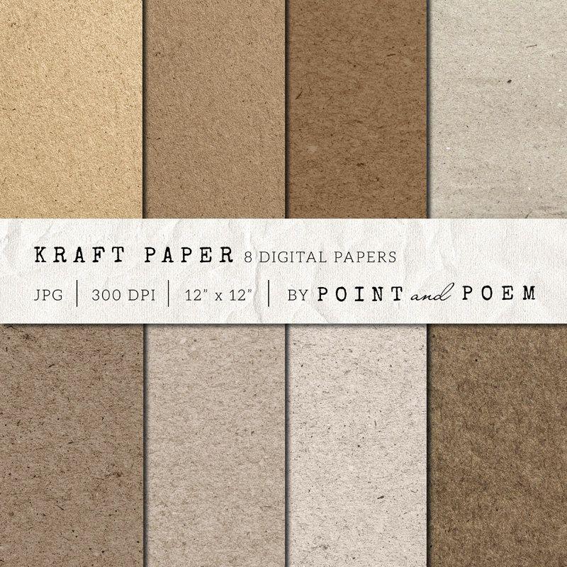 Kraft Paper Digital Paper Kraft Paper Neutrals Chipboard Textured Papers Scrapbooking Background Cardboard Commercial Use Paper Texture Pack Paper Texture Kraft Paper